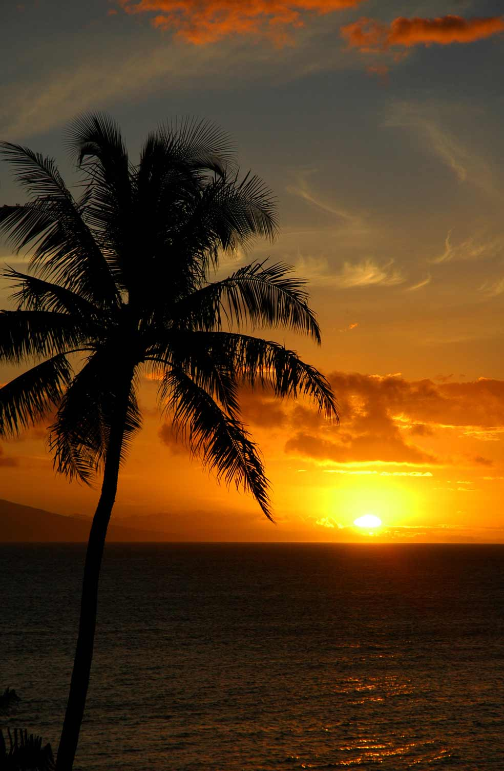 Enjoy picture-perfect sunsets at Napili Bay, Maui.