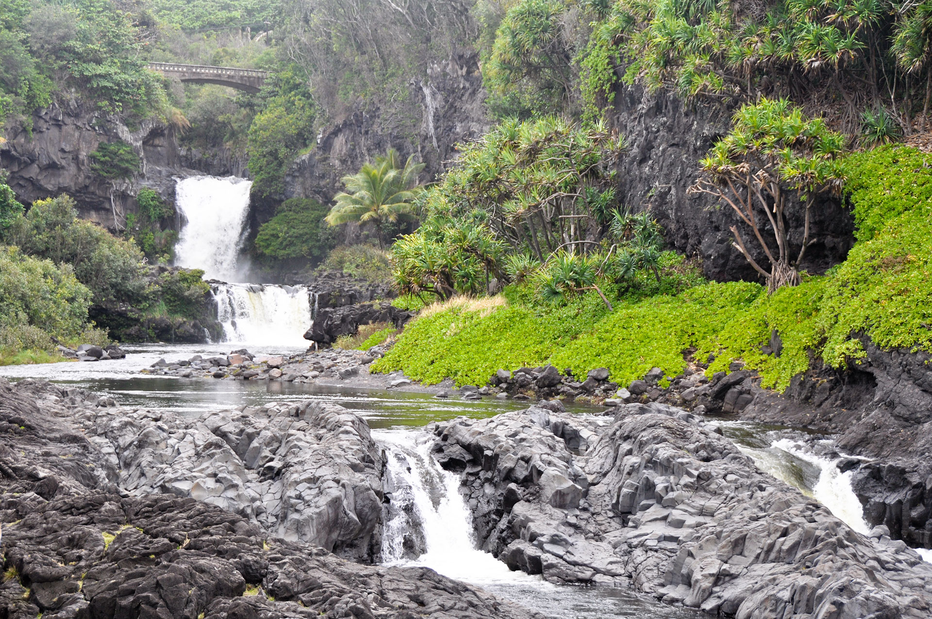 The Seven Sacred Pools are part of Haleakala National Park on Maui.