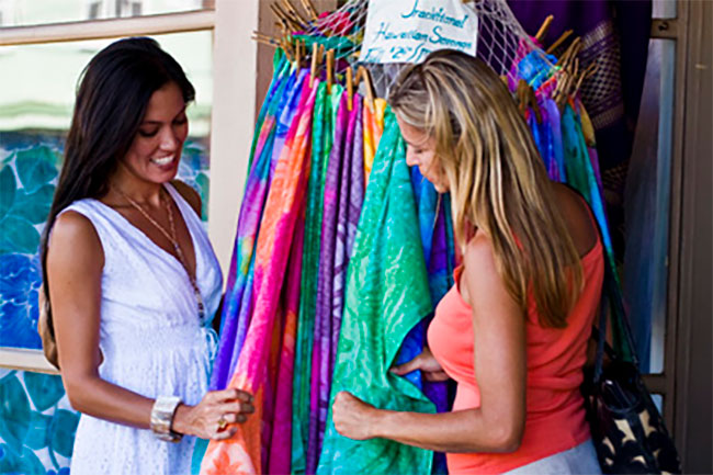Maui is a shopper's paradise.